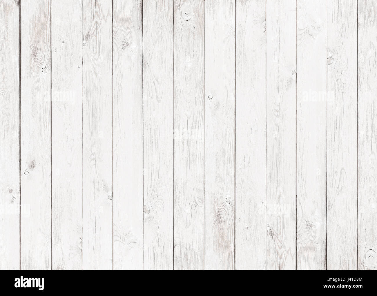 white wood textured background - Stock Image