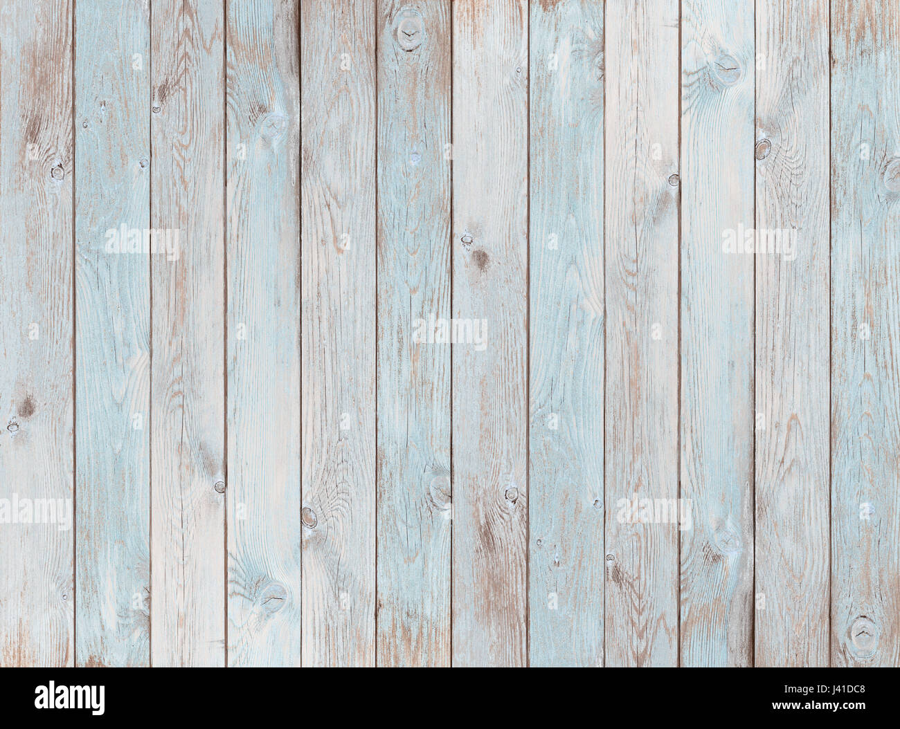 pale blue wood planks texture or background - Stock Image
