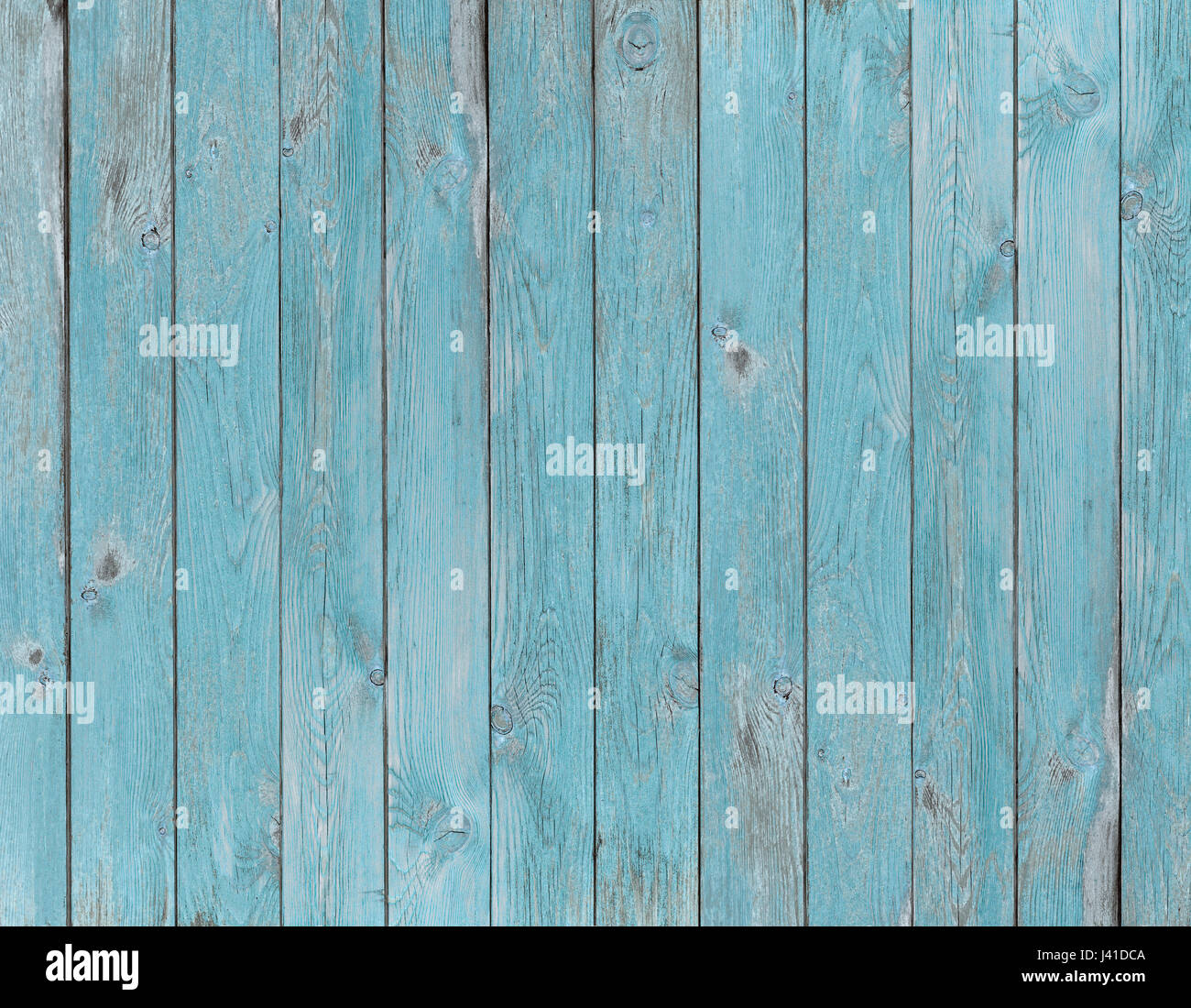blue old wood planks texture or background - Stock Image
