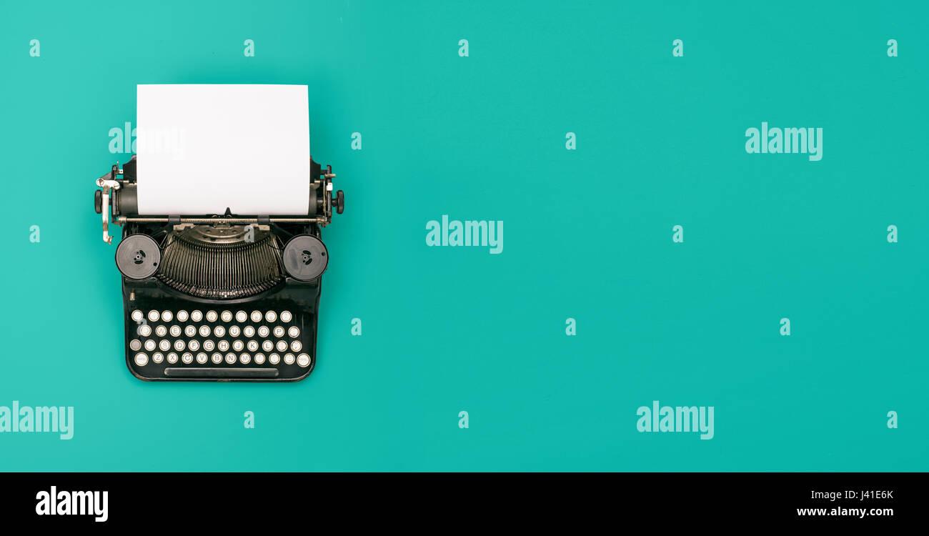 retro typewriter header - Stock Image