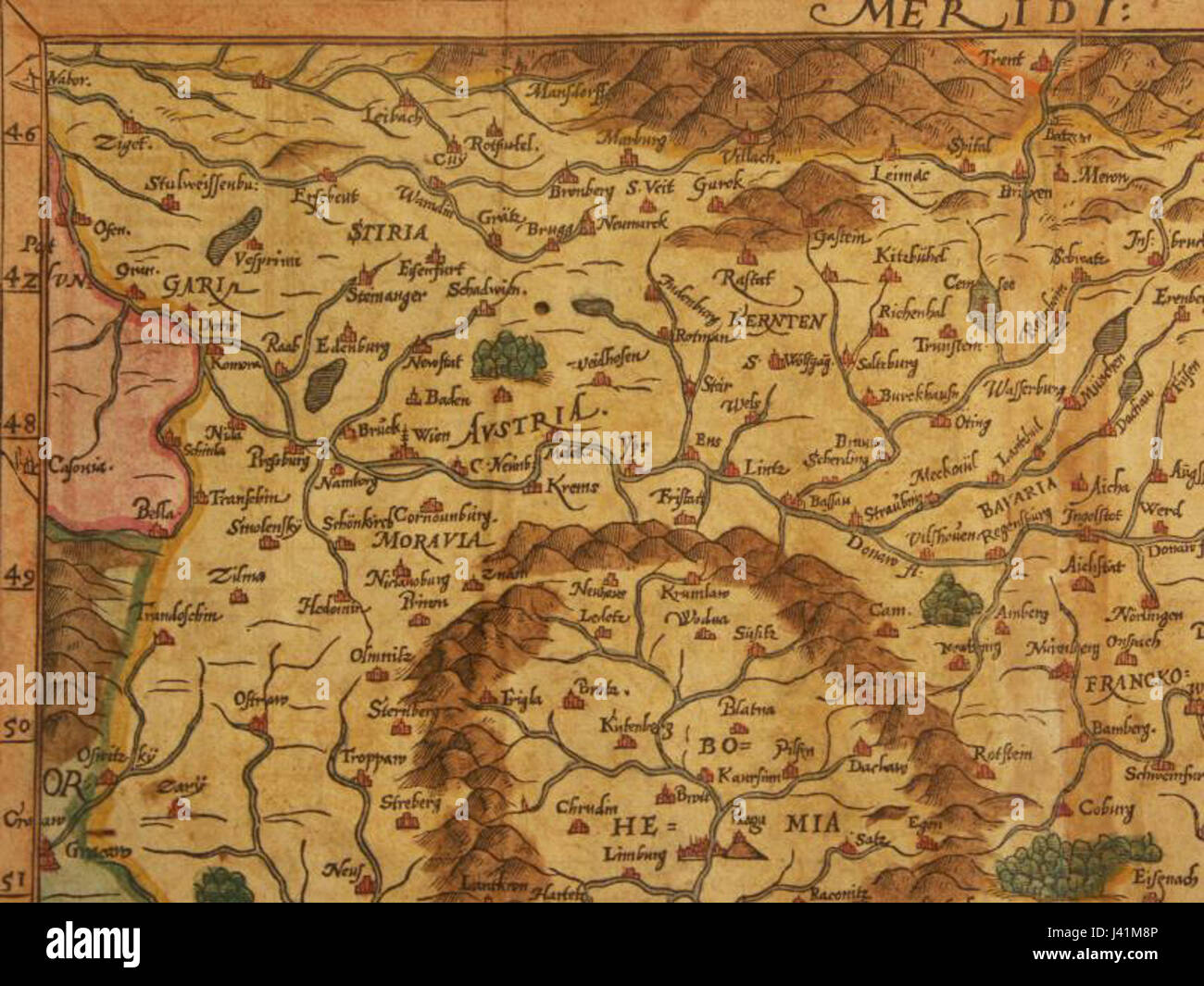 Map Of North West Germany.Map Of Germany North West 1600 Stock Photo 140179446 Alamy