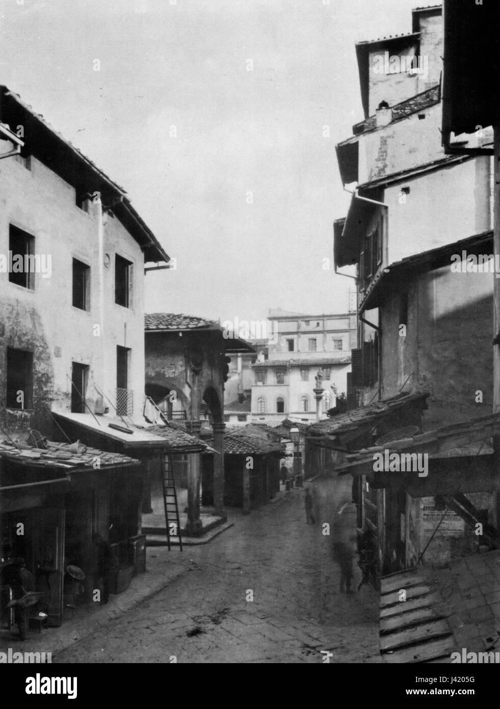 Mercato vecchio before 1881 - Stock Image