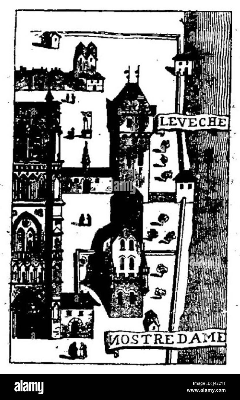 Lassus, Viollet le Duc   Projet de restauration de Notre Dame de Paris   page 42 - Stock Image