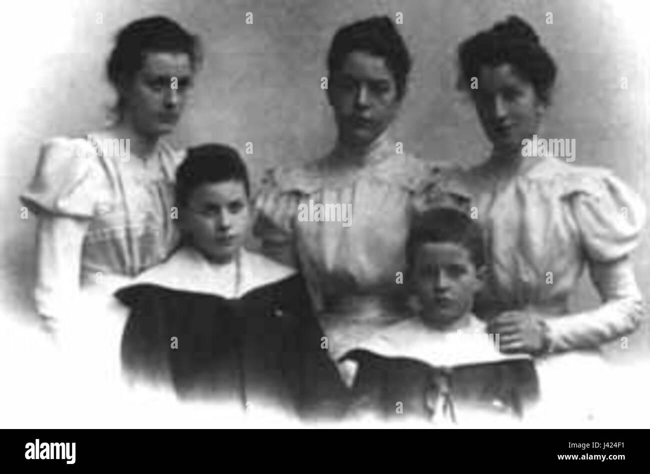 Ludwig Wittgenstein siblings - Stock Image