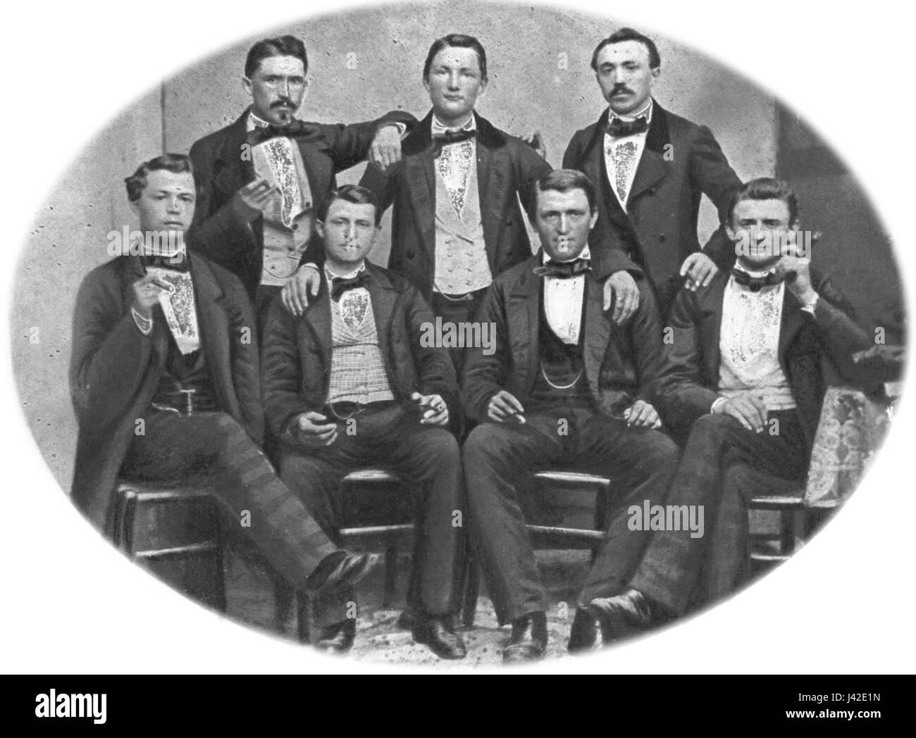 Mens group 1880 hg - Stock Image