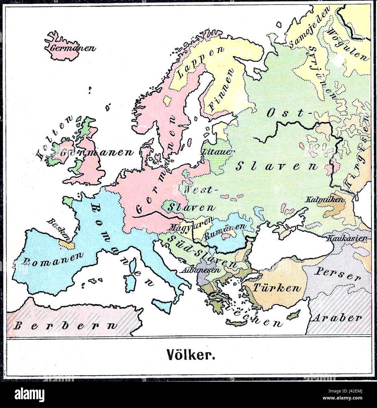 Main ethnic groups in Europe (1899 Stock Photo: 140197026 - Alamy