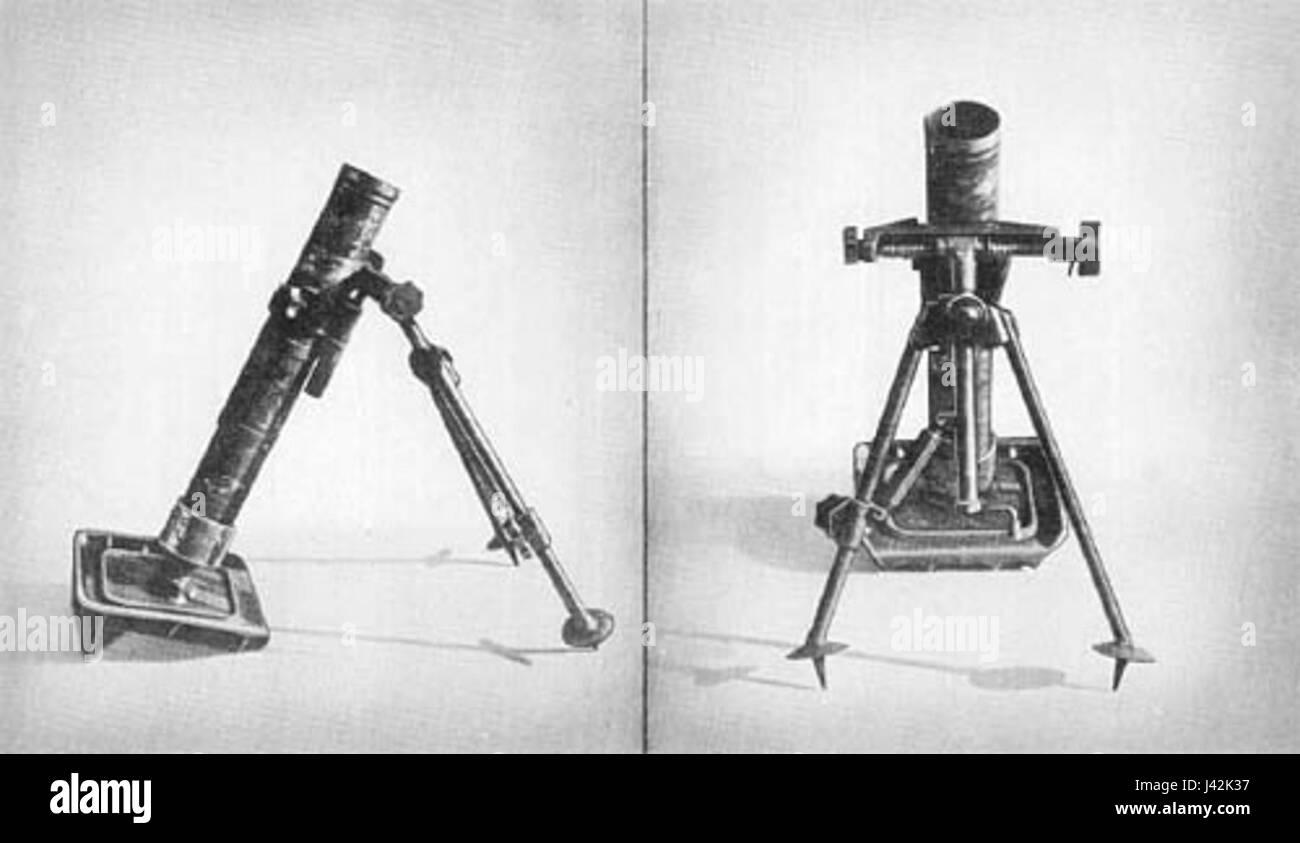 Kz 8cm gr w 42 short mortar - Stock Image