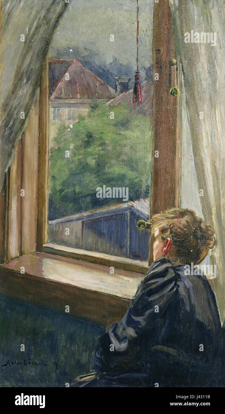 Lochen, Woman by the window - Stock Image