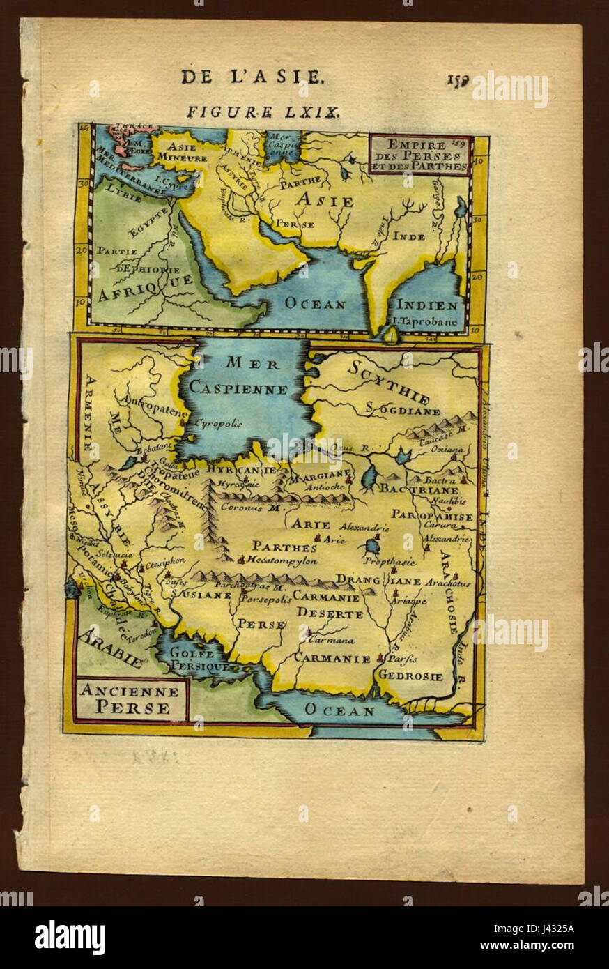 Map of ancient Persia, 1683 Stock Photo: 140209142 - Alamy