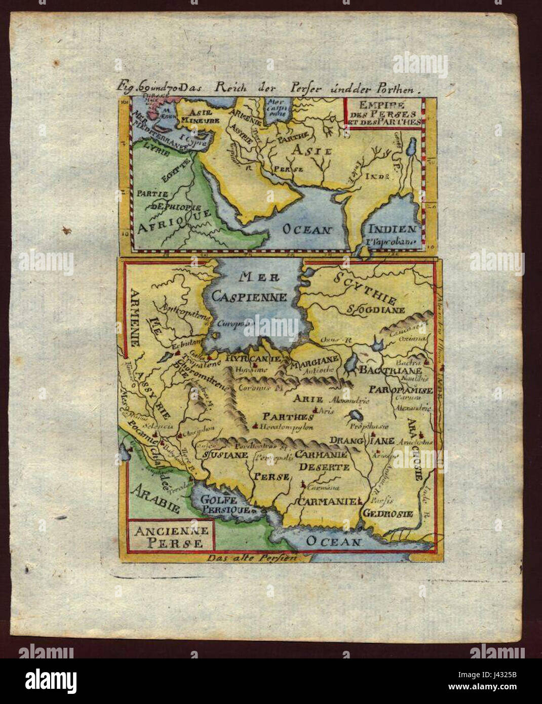 Map of ancient Persia, 1719 Stock Photo: 140209143 - Alamy
