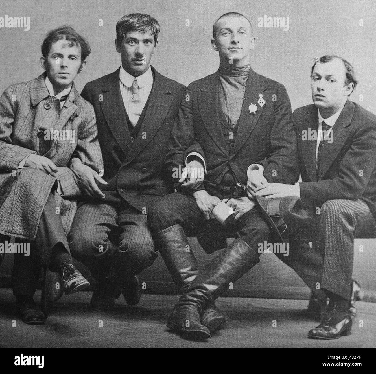 Mandelstam, Cukovsky, Livshiz & Annenkov 1914 Karl Bulla - Stock Image