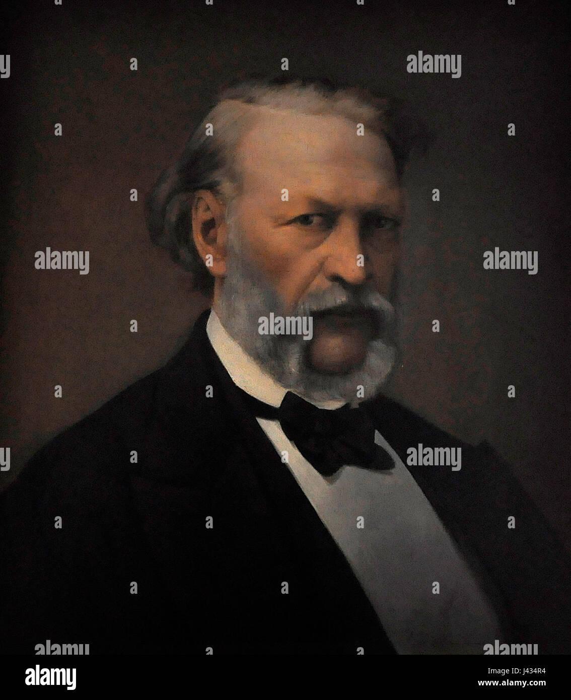 Kortrijk 1302 Henri De Pondt portret van Hendrik Conscience ca. 1870 9 01 2010 14 59 41 - Stock Image