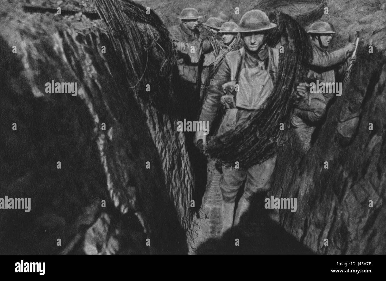 Mannschaften des York  und Lancaster Regiments - Stock Image