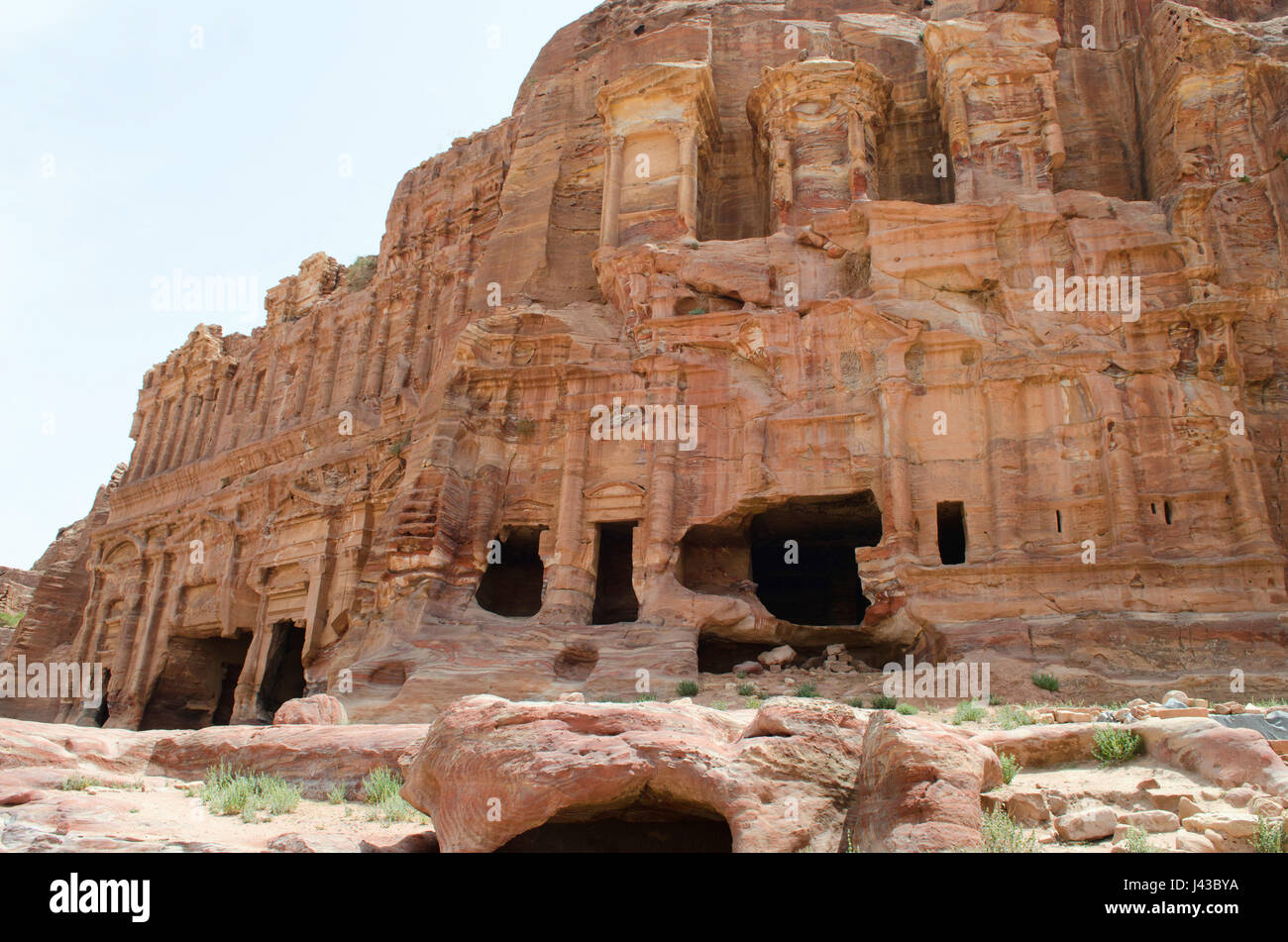 Lost City Of Petra Jordan Middle East Stock Photo