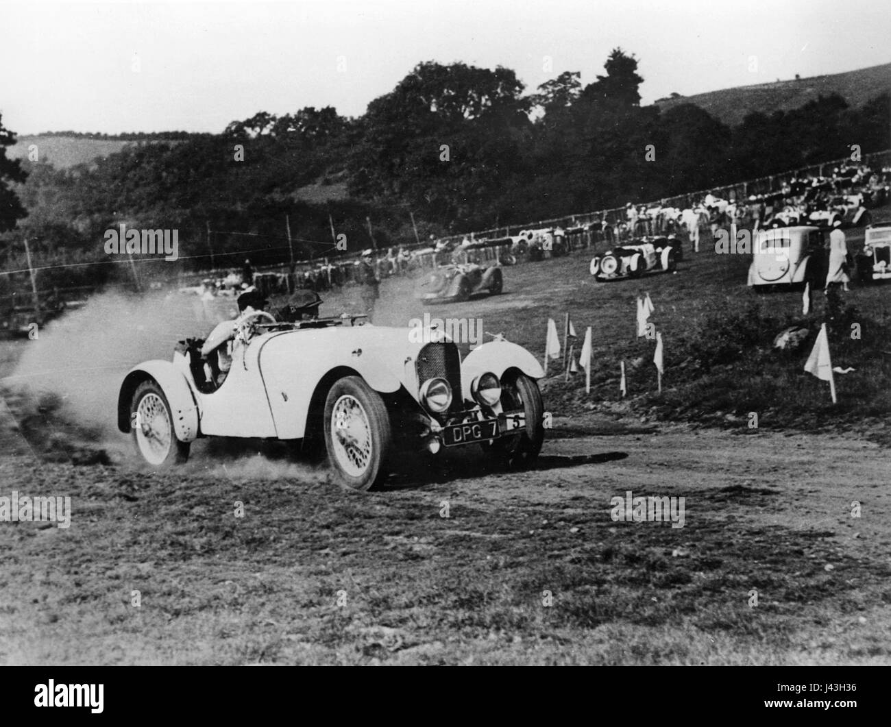 Marendaz 15-90 short chassis 1936. A.E.Moss at Rushmore MCC competition - Stock Image