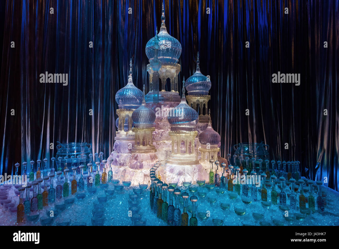 Ice Sculpture at Yule Ball, Making of Harry Potter, Warner Bros. Studio Tour, Leavesden, London - Stock Image