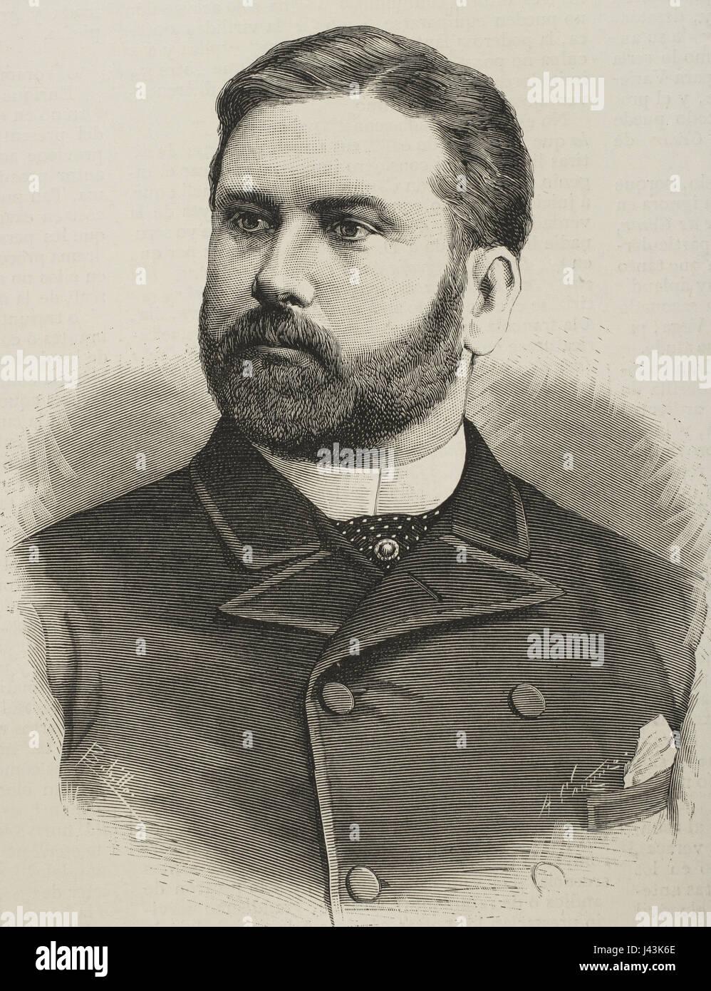 Raimundo Fernandez-Villaverde y Garcia del Rivero, jure uxoris Marquis of Pozo Rubio, (1848-1905). Spanish statesman. - Stock Image
