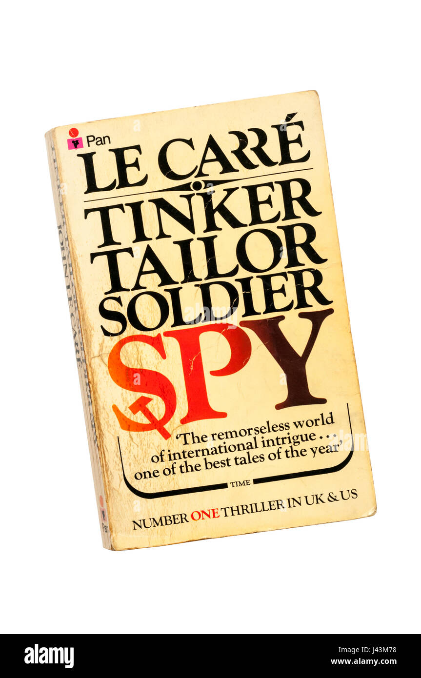 An old battered much-read paperback copy of Tinker Tailor Soldier Spy by John Le Carré (David Cornwell). First - Stock Image