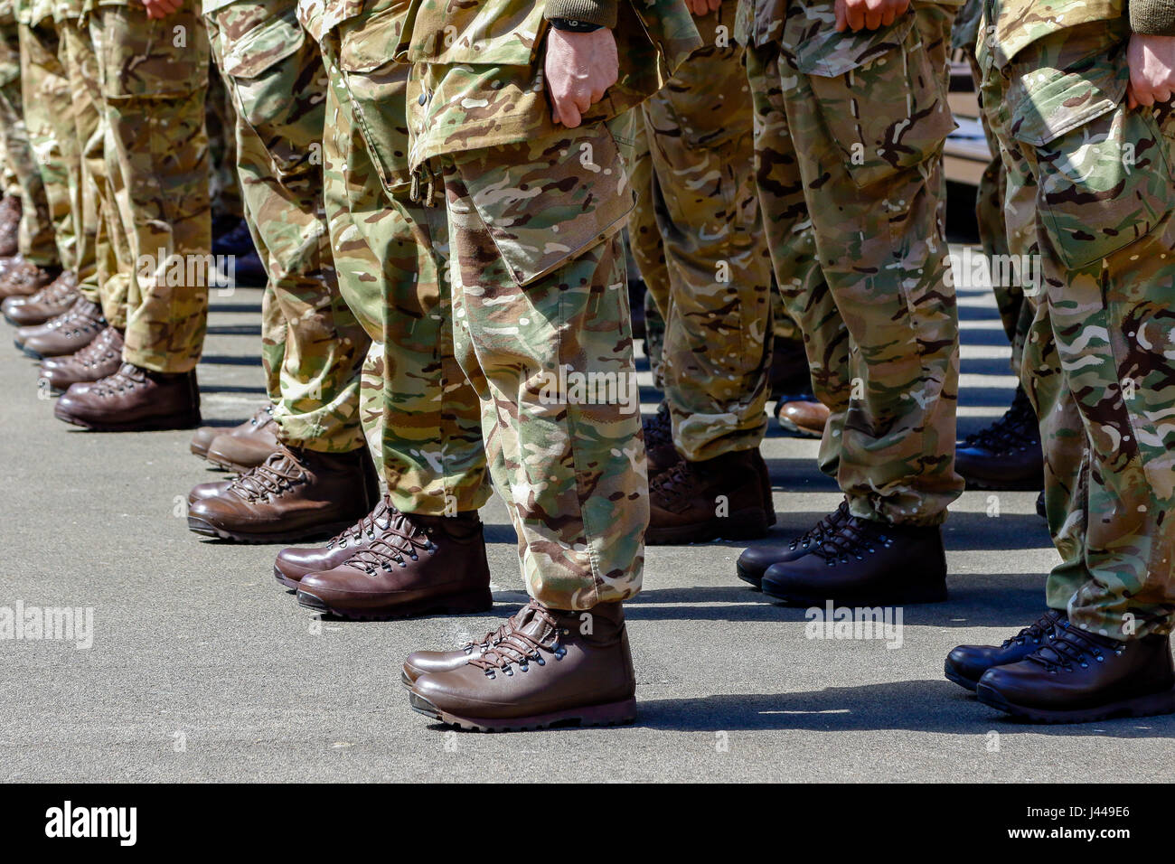 British soldiers on parade, Glasgow, Scotland, UK - Stock Image