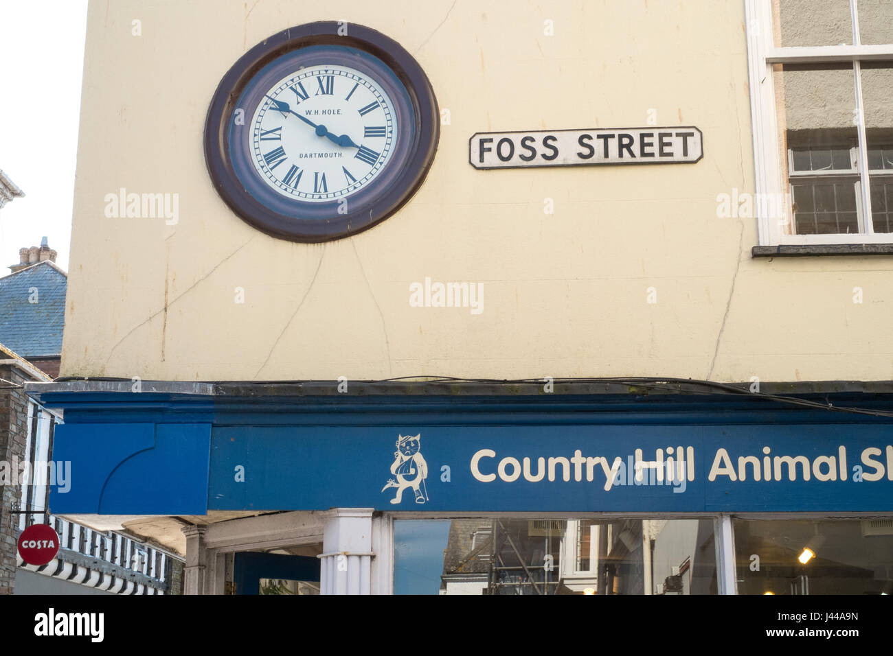 Foss Street , Dartmouth, South Devon, England, United Kingdom. Stock Photo