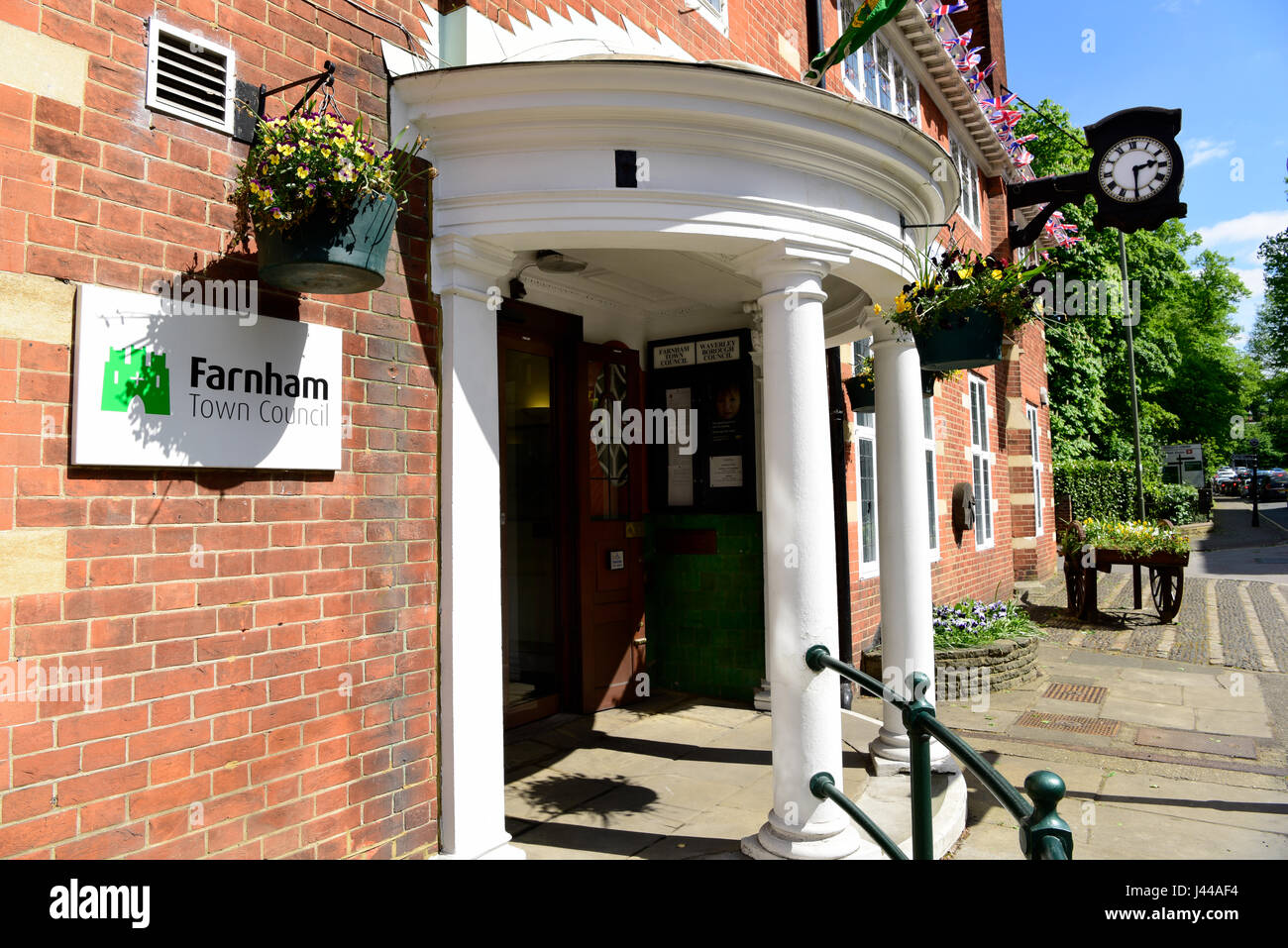 Facade of Farnham Town Council building, Farnham, Surrey, UK. - Stock Image