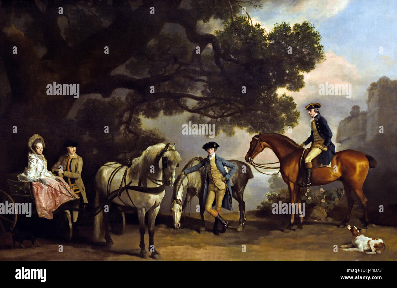 The Milbanke and Melbourne Families 1769 George Stubbs (1724-1806)  United Kingdom, England, English, British, Britain, - Stock Image