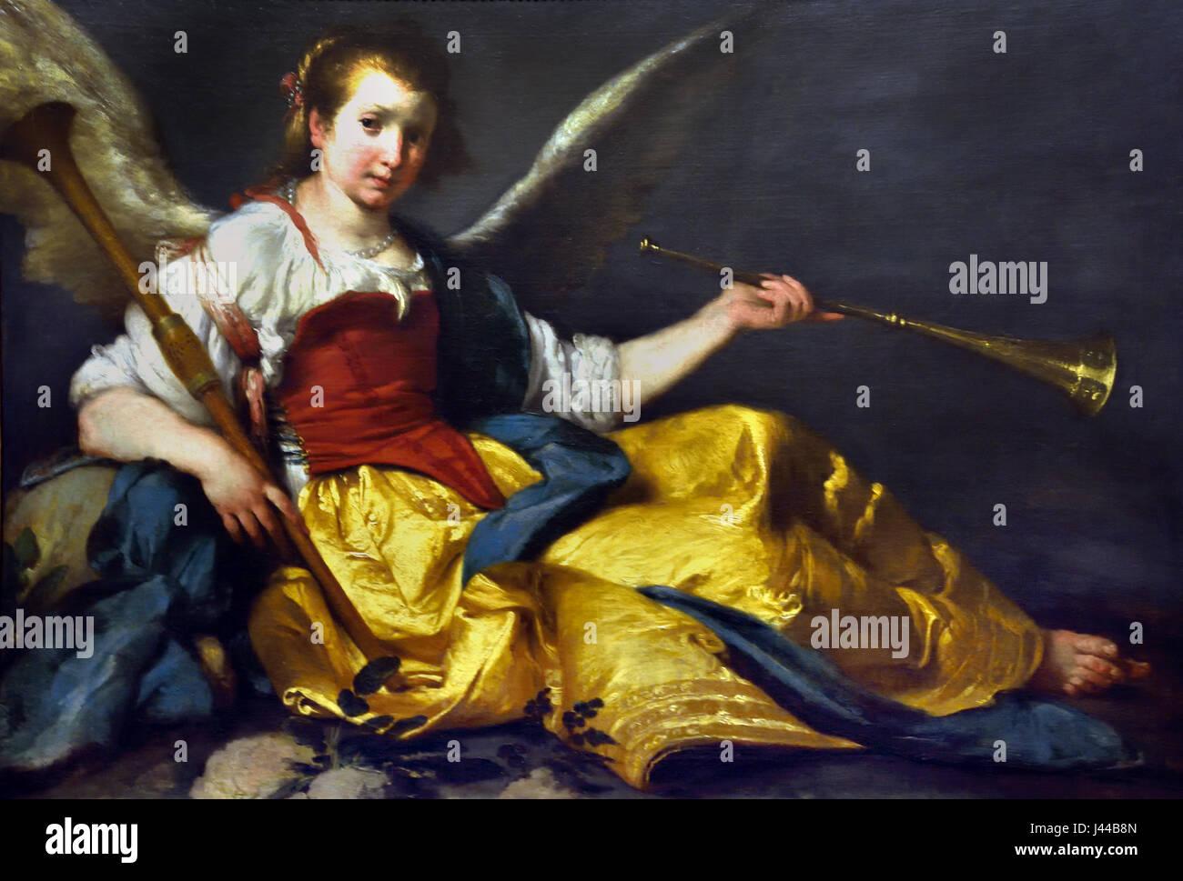 A Personification of Fame 1635 Bernardo Strozzi 1581 - 1644 Italy Italian - Stock Image