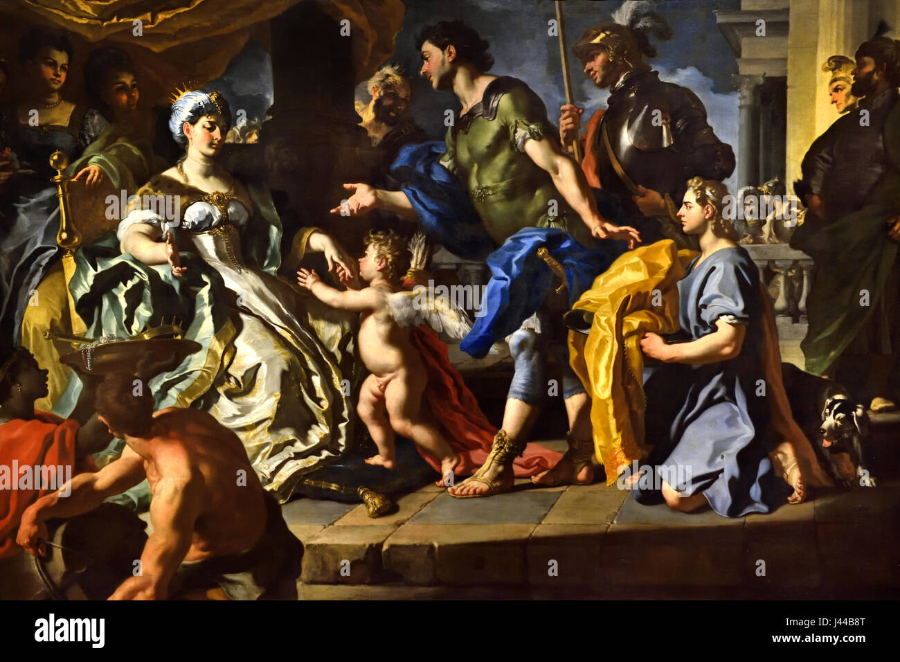 Dido receiving Aeneas and Cupid disguised as Ascanius 1710 Francesco Solimena 1657 - 1747 Italy Italian ( Aeneas' - Stock Image