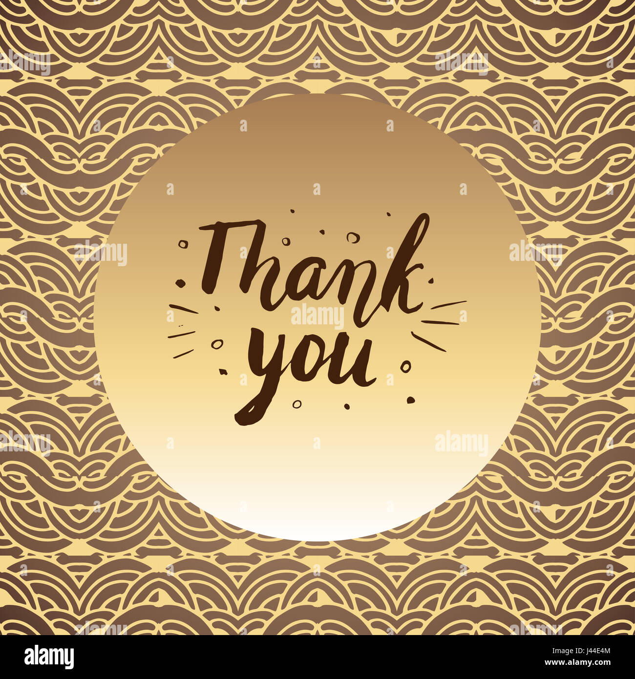 Thank You. Hand drawn lettering. Can be used for card. Illustration. - Stock Image