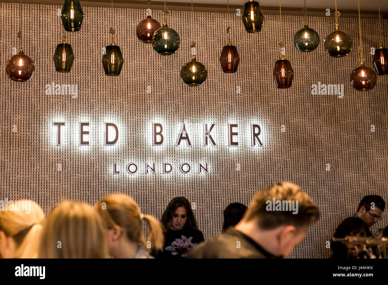 31f827c47 Roermond Netherlands 07.05.2017 - Logo people shopping Ted Baker London  Store Mc Arthur Glen Designer Outlet shopping area