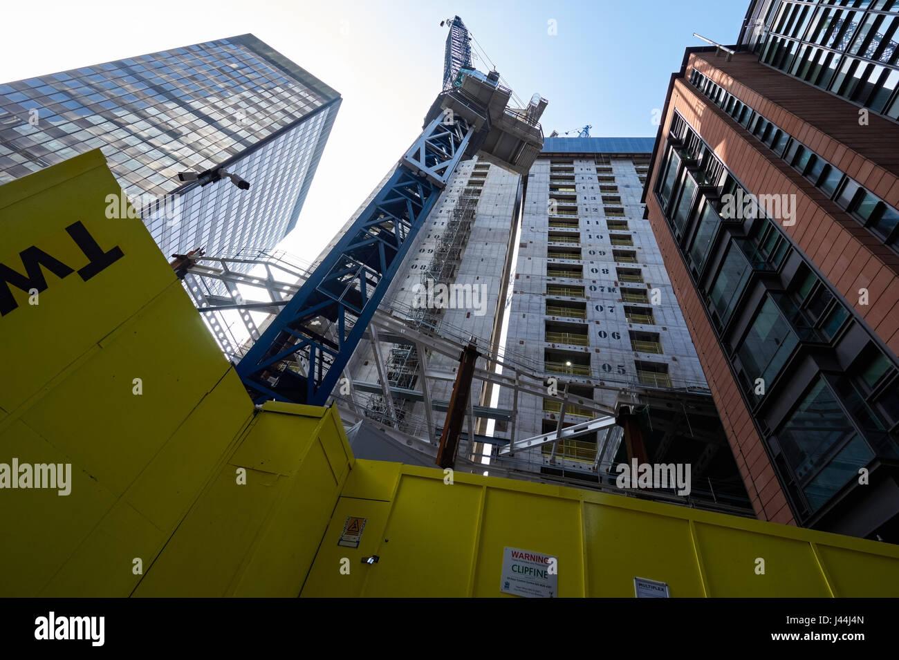 The Pinnacle skyscraper 22 Bishopsgate under construction, London England UK - Stock Image