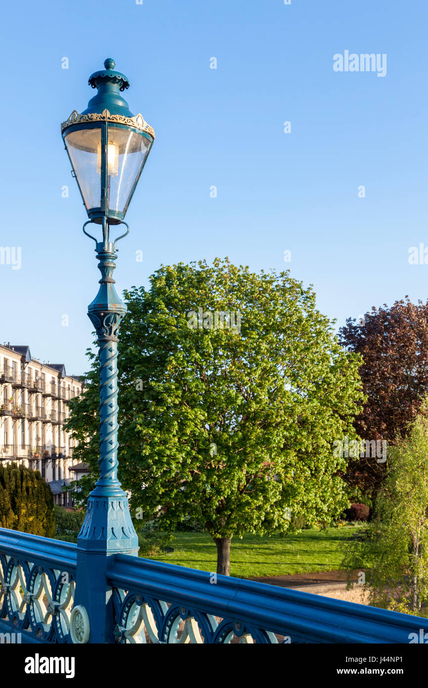 Victorian streetlight on Trent Bridge, Nottingham, England, UK - Stock Image