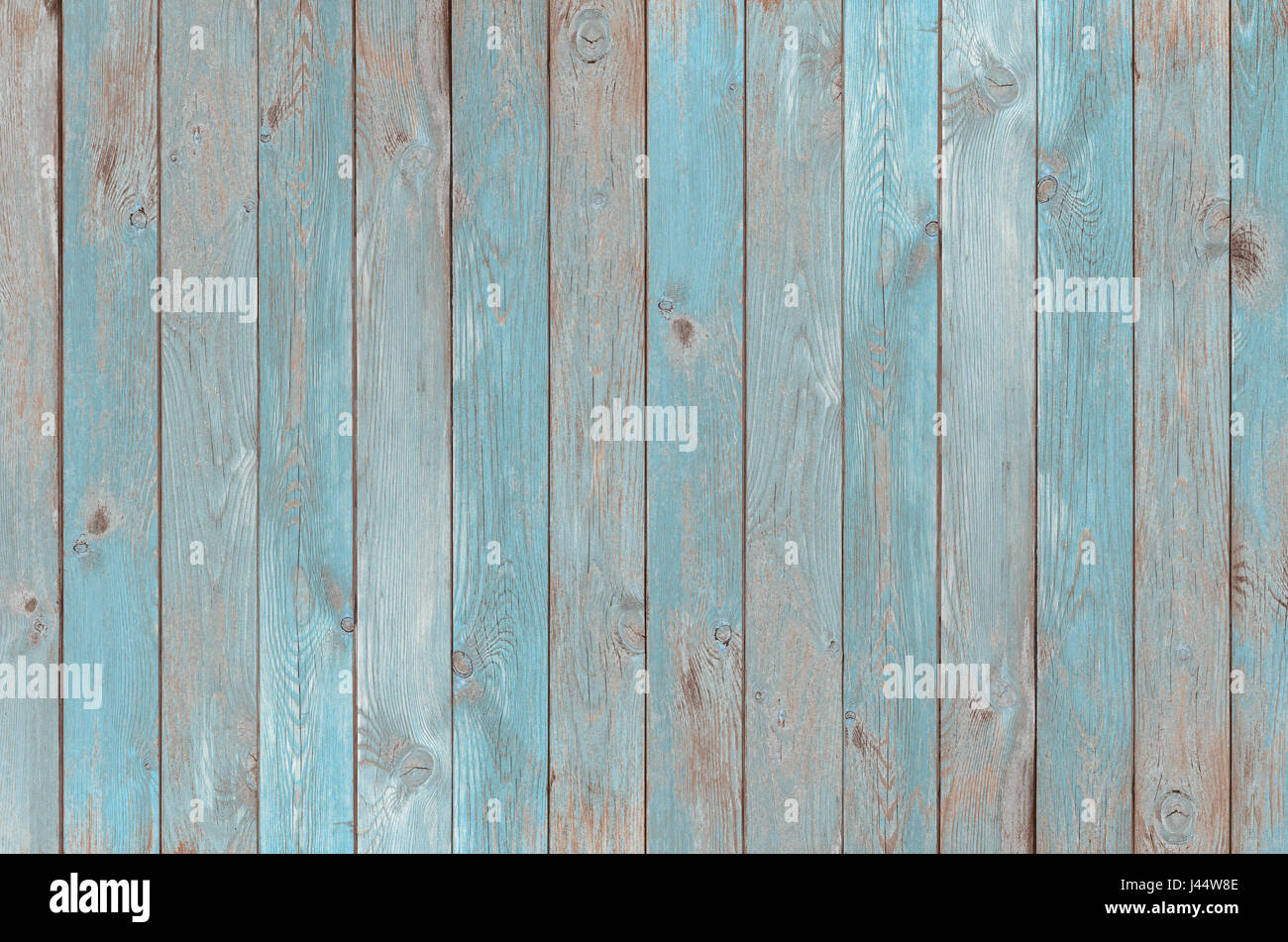 blue vintage wood planks texture or background - Stock Image