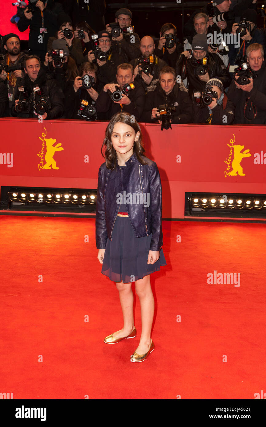 Actress Dafne Keen at Berlinale 2017 - Stock Image