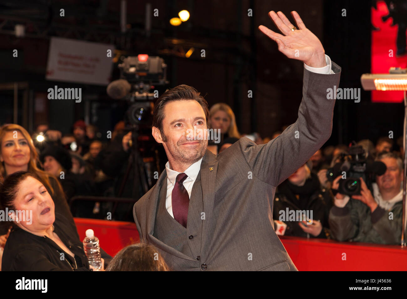 Actor Hugh Jackman at Berlinale 2017 - Stock Image