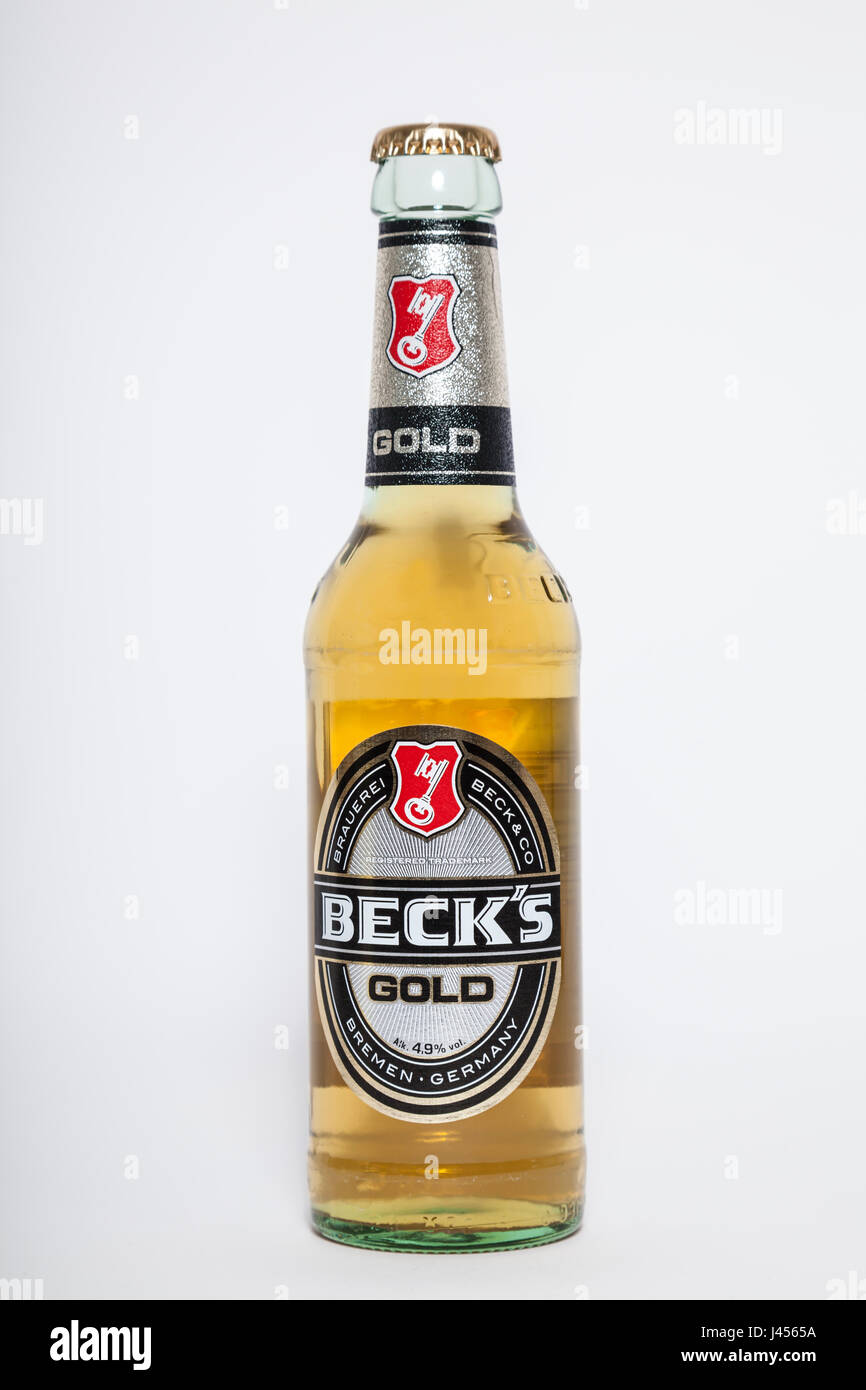 Beck's Gold beer - Stock Image