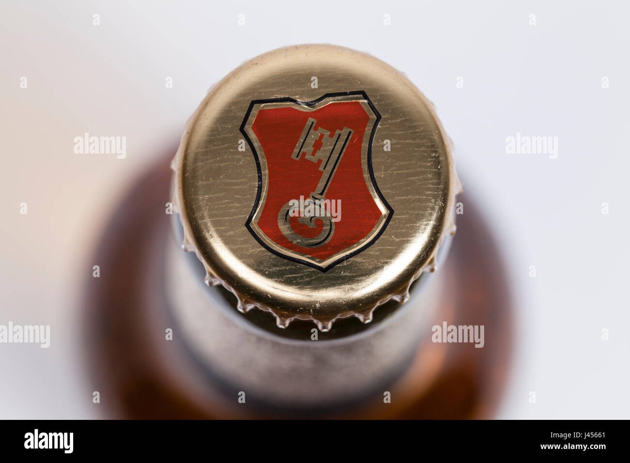 Beck's bottle cover - Stock Image