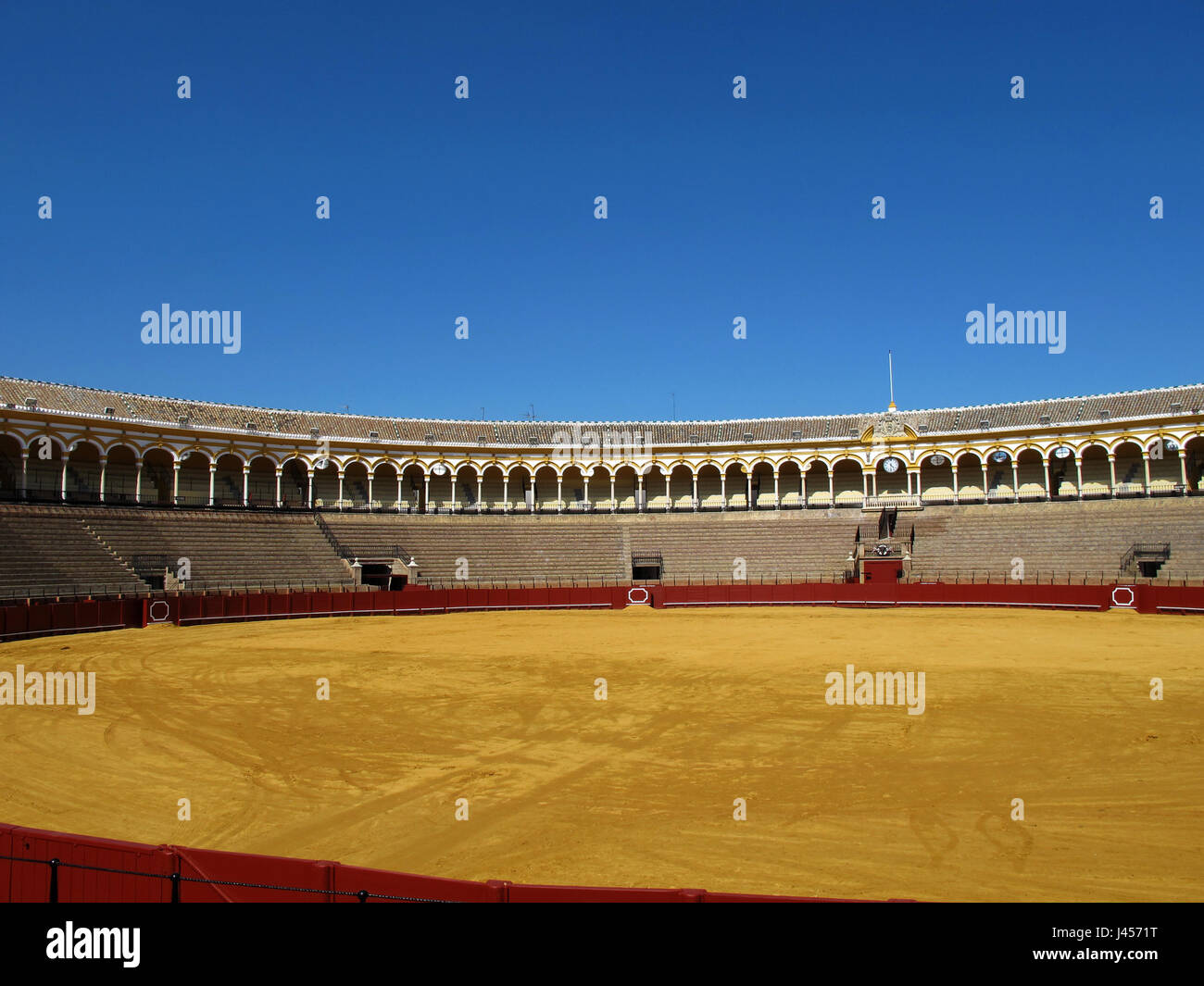 Plaza de Toros de la Real Maestranza de Caballeria de Seville, bullfight arena, Andalusia, Seville province, Spain, - Stock Image