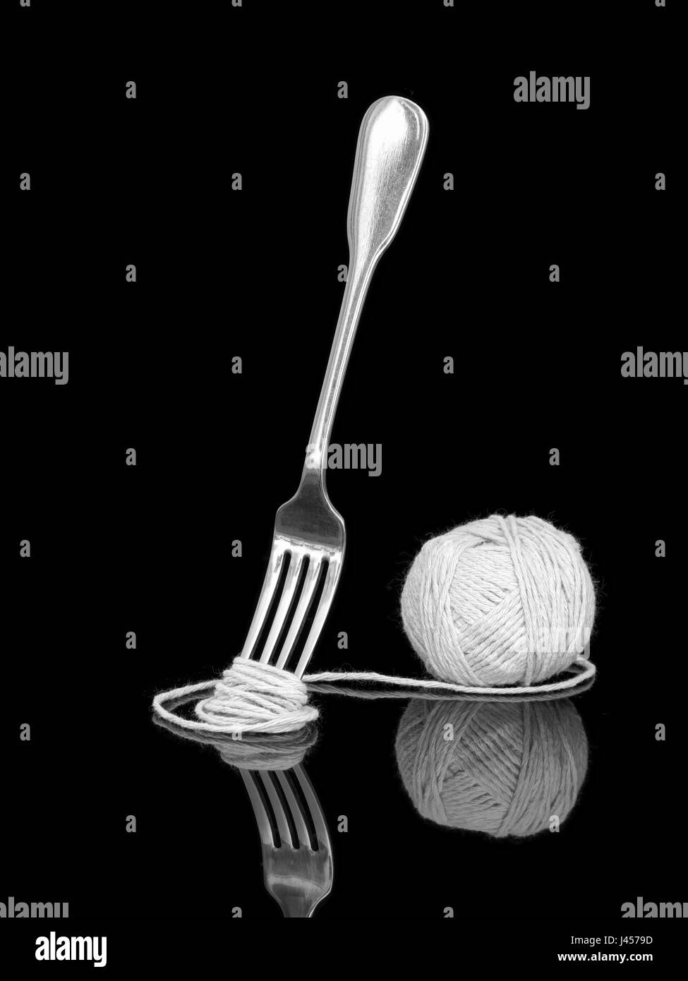 Italy or EU bureaucracy, complexity concept. Aka Spaghetti practice aka how long is a piece of string. Monochrome - Stock Image