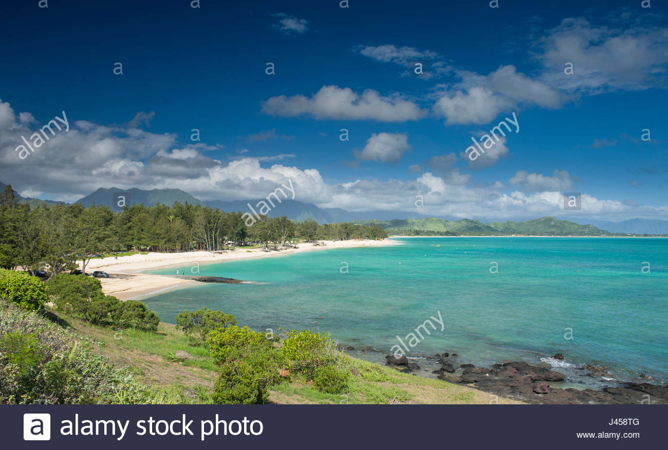 Kailua Beach Park Kailua Oahu Hawaii Usa Stock Photo