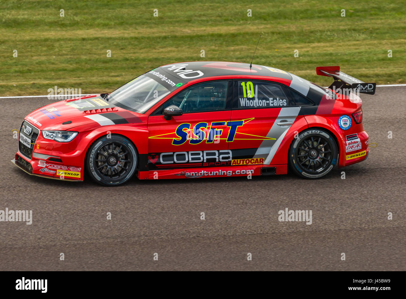 BTCC Driver Ant Whorton-Eales competing at Thruxton Circuit, Hampshire, on Sunday 7th May 2017. - Stock Image