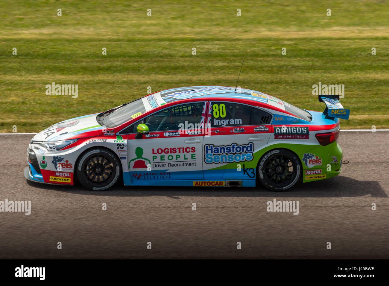 BTCC Driver Tom Ingram competing at Thruxton Circuit, Hampshire, on Sunday 7th May 2017. - Stock Image