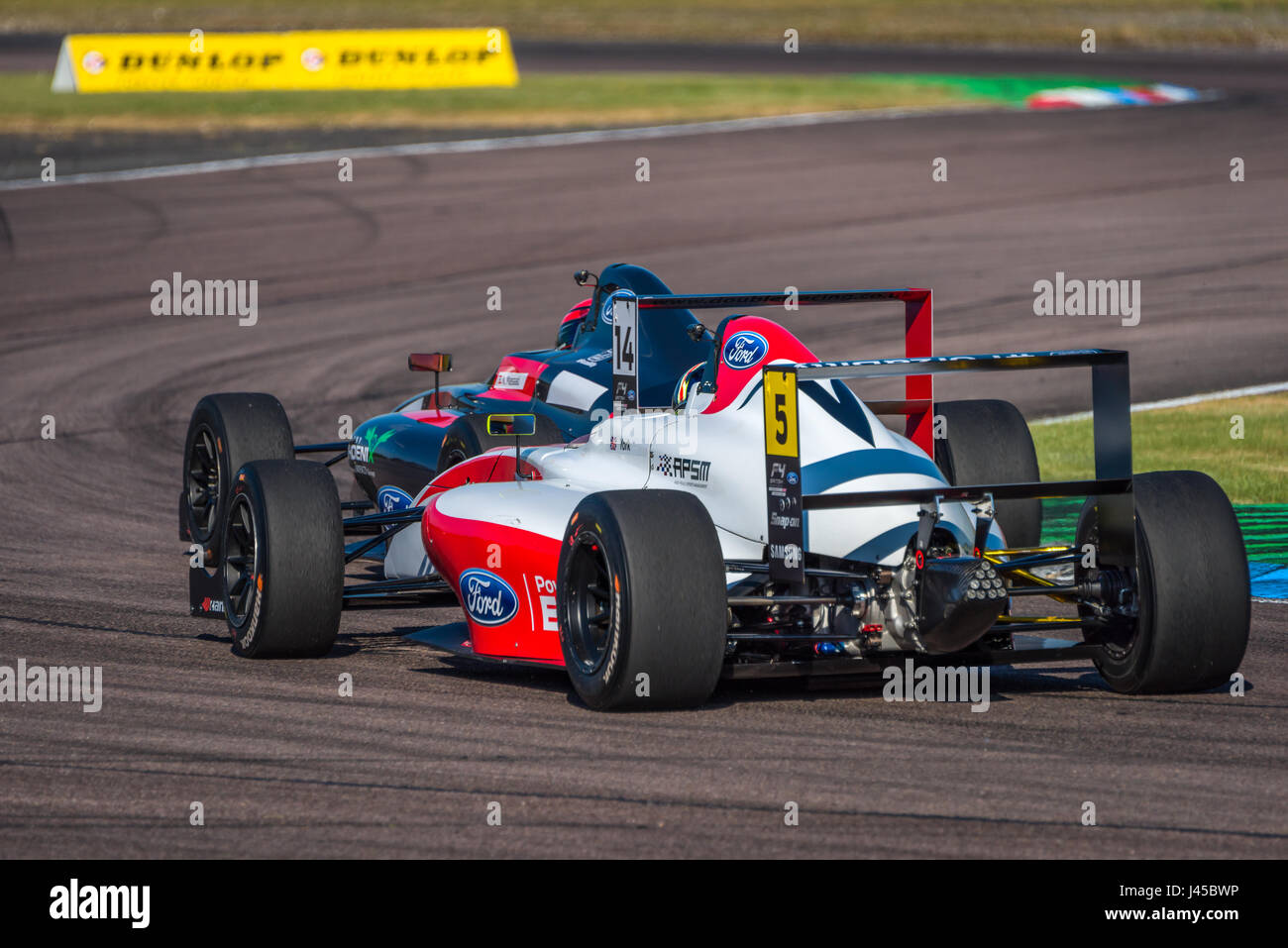 Formula Four Racing Driver Oliver York competing at Thruxton Circuit, Hampshire, on Sunday 7th May 2017. - Stock Image