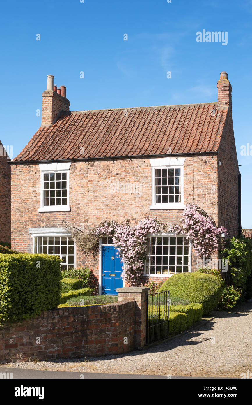 The Firs, an early 19th century town house, Aldborough, North Yorkshire, England, UK - Stock Image