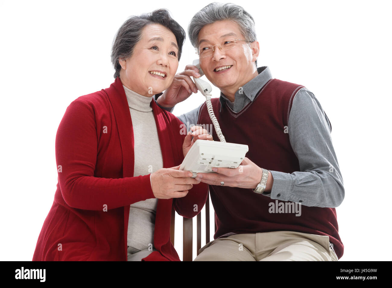 The old couple have a new year - Stock Image