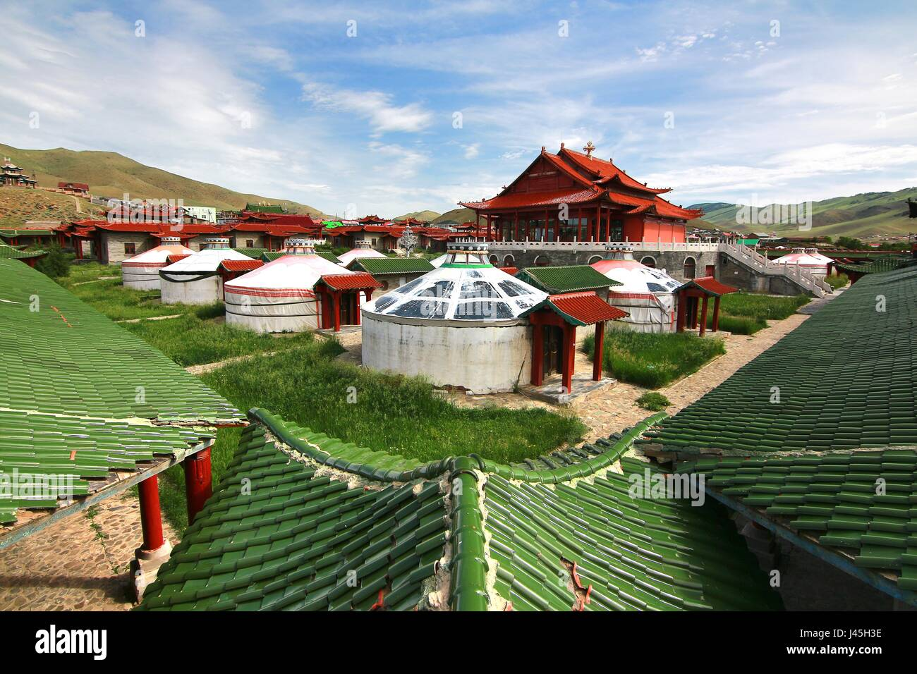 The ger camp at Ulaanbaatar , Mongolia - Stock Image