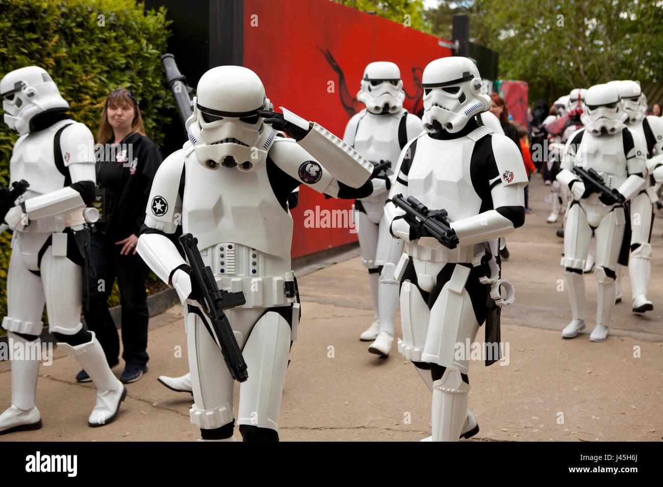 National Star Wars day parade at Legoland UK Berkshire Stock Photo
