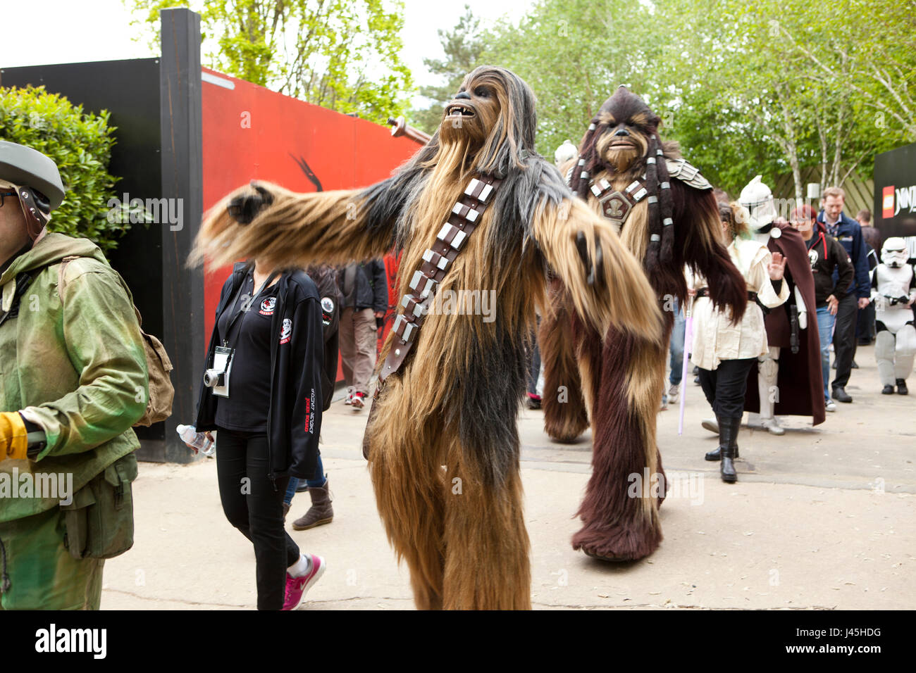National Star Wars day parade at Legoland UK Berkshire Stock Photo