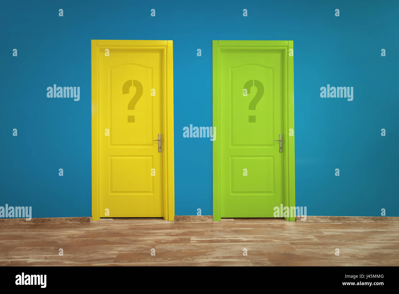 Choice concept with colorful doors - Stock Image