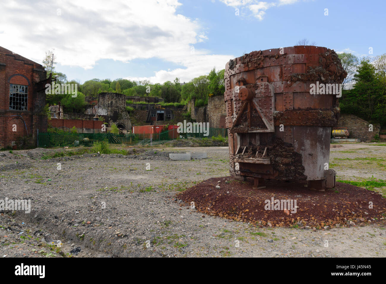 Brymbo Heritage Area and smelting crucible all that remains of the